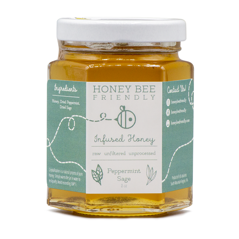 Peppermint Sage Infused Honey
