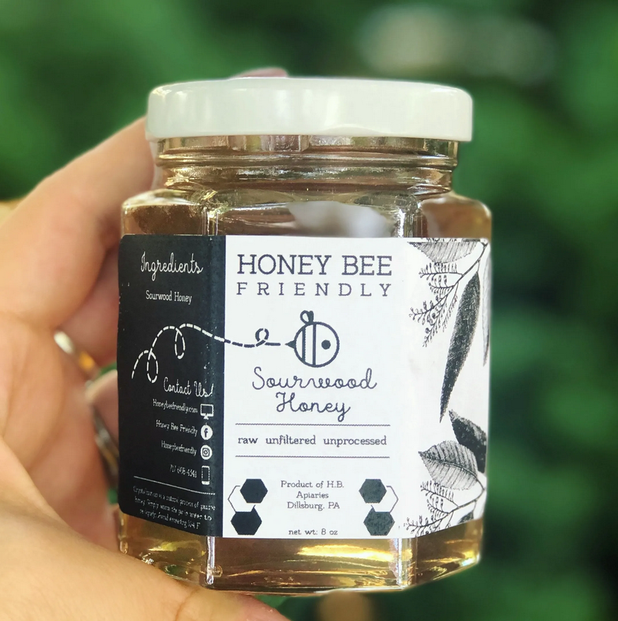 Sourwood Honey harvested from Stewart, Virginia